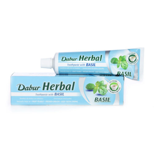 dabur herbal toothpaste – basil – 100ml