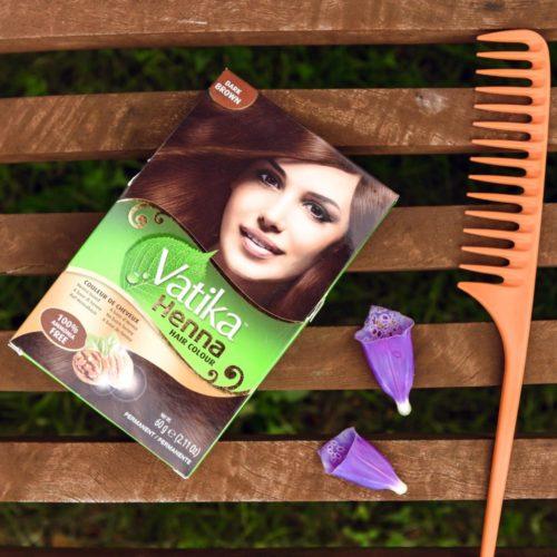 dabur vatika henna hair colour dark brown – 60g