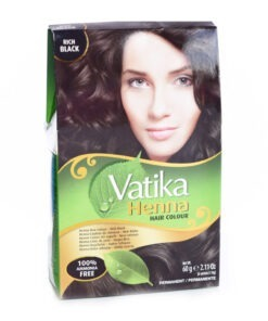 dabur vatika henna hair colour natural black – 60g