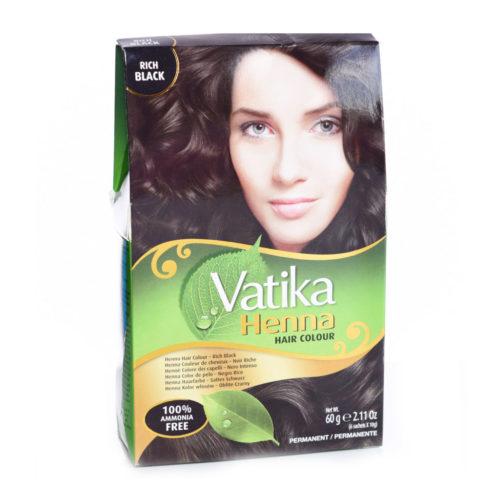 dabur vatika henna hair colour natural black – 60g