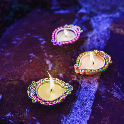kajal diya set with wax – 4pcs