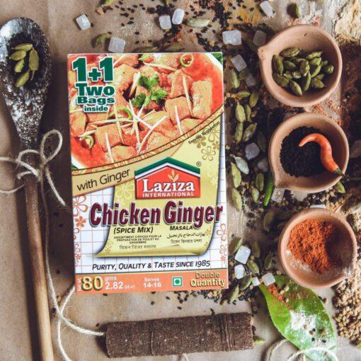 laziza chicken ginger masala – 80g