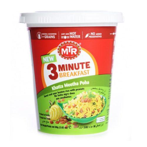 mtr foods breakfast khatta meetha poha – 80g