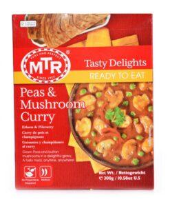 mtr foods rte peas & mushroom curry – 300g