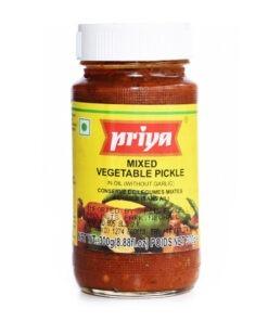 priya foods mixed veg pickle – 300g