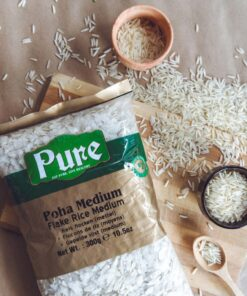 pure powa medium flake rice – 300g