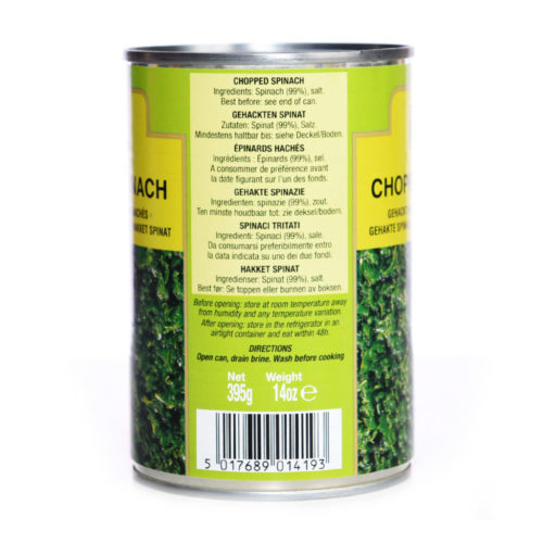 trs canned spinach chopped – 800g