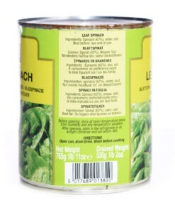 trs canned spinach leaf – 800g