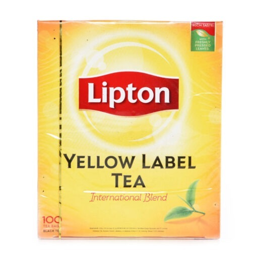 liption yellow label tea bags – 100tb